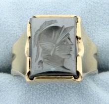 Men's Signet Ring of Knight