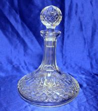 Miller Rogaska Cut Crystal Ships Decanter w/matching stopper