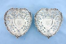 Antique sterling silver Bonbon trays (2)