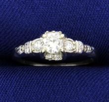 Platinum .45ct Total Weight Diamond Ring