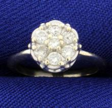 .35 ct Total Weight Diamond Pinky Ring