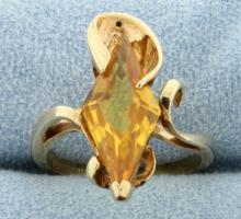 Diamond Shaped Citrine Ring