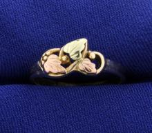 Yellow & Rose Gold Nature Ring