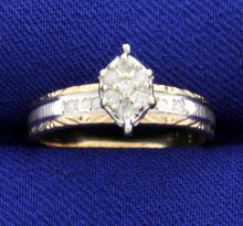 White & Yellow Gold Diamond Ring