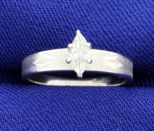 Art Deco Marquise Solitaire Ring
