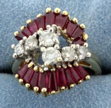 Vintage Diamond & Ruby Ring