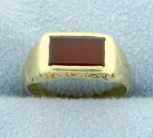 Antique Synthetic Ruby Pinky or Child's Ring