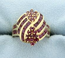 1 1/2ct Total Weight Lab Ruby Ring