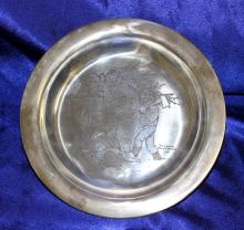 Norman Rockwell Sterling silver Collector Plate