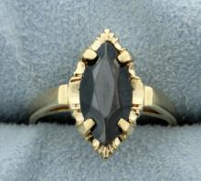 Jet Gemstone Ring