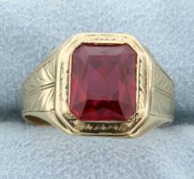 Vintage Lab Ruby Ring