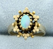 Vintage Opal Pinky Ring