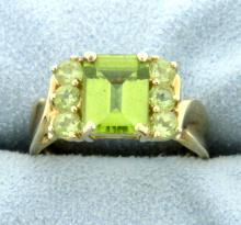 3ct Total Weight Peridot Ring