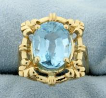 6ct Blue Topaz Ring