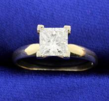 1.26 carat Princess cut solitaire