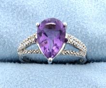Amethyst ring in Sterling Silver
