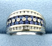 Diamond & Tanzanite Band Style ring