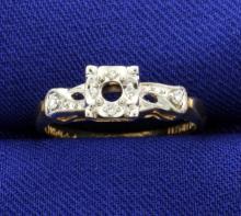 Vintage Diamond Ring Mounting