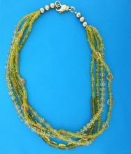 Cut Crystal Stranded Necklace