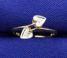 Heart Diamond By-Pass Ring