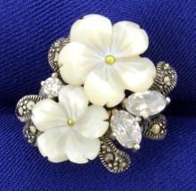 CZ Flower Ring