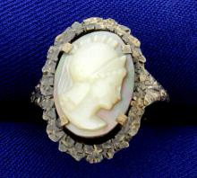 Sterling Silver Cameo Ring