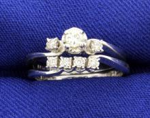 Diamond Rings Engagement Set