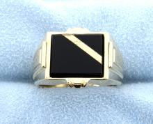 Onyx 14k Yellow Gold Ring