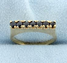 Sapphire Line 14K Yellow Gold Ring