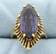 Vintage Amethyst 14K Yellow Gold Ring