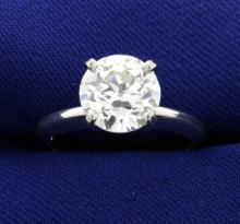 GIA Certified 2 1/2 ct Diamond Solitaire Ring in Platinum Setting