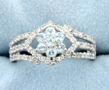 Genuine Topaz sterling silver ring