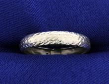 14k White Gold 4mm Band