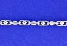 Men's 14k white gold bracelet