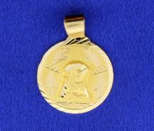 Holy Mother 14k Medal