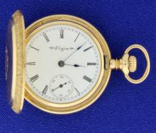 14k Antique Elgin Hunting Case Pocket Watch