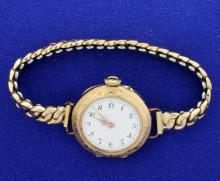 Antique Ladies Wristwatch in 14k Yellow Gold