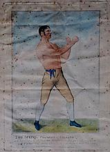 Pugilism - a pair of 19th Century prints: James Be