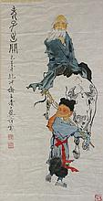 Fan-zeng (after) -  a Daoist Sage Laozi and child