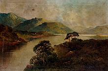 F J Jameson -a pair, extensive landscapes with cot