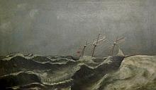 English School, late 19th Century - Wreck On The G