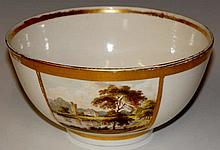 A Derby bowl the plain white body with a tapered r