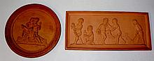 A Copenhagen rectangular terracotta plaque relief