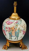 A Chinese porcelain baluster jar decorated with fi