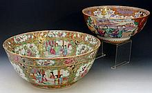 A Cantonese Famille Rose circular bowl decorated i