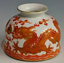A Chinese porcelain brush wipe of conventional des