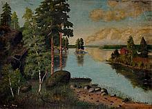Finnish School, early 20th Century - Kakisalmi, Fi