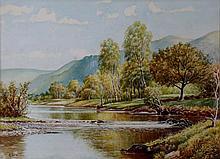 G.Slow - The Derwent, Cumberland, watercolour heig