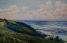 Arthur Meyrick - Crownhill, Wye, watercolour, sign
