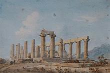 Italian School, 19th Century - The Temple at Girge